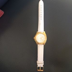 Tommy Hilfiger White leather straps